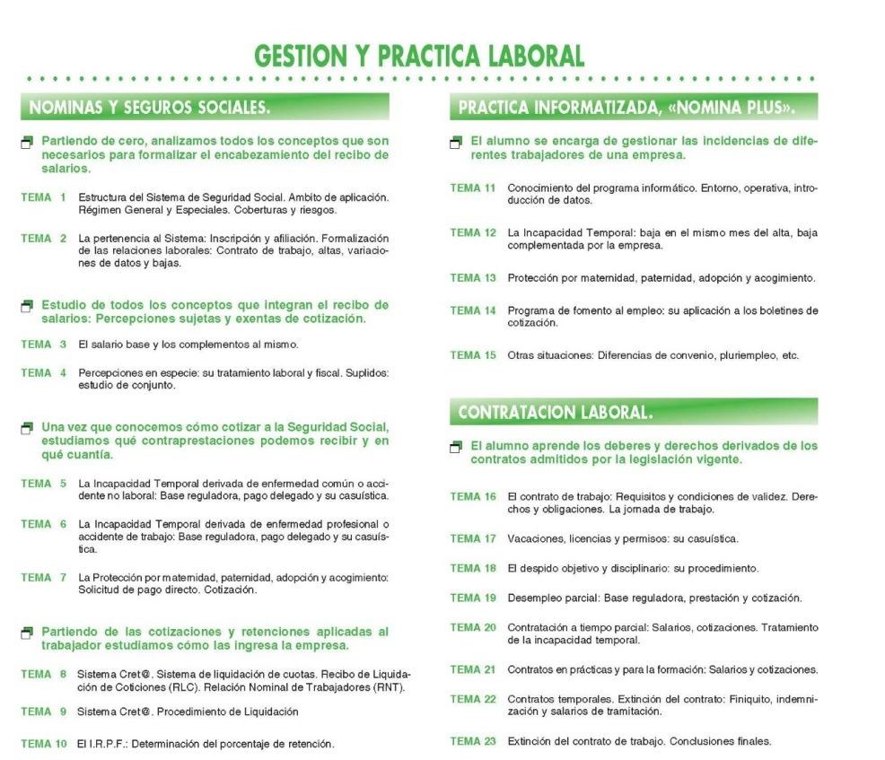 curso gestion y practica laboral